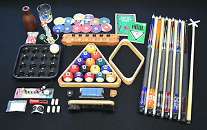 Top Pool Table Billiards Accessory Kit Pool Cue Sticks