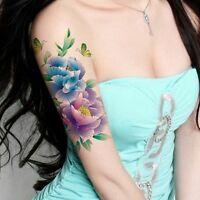 SexyTotem wasserfeste Tattoos Rose Butterfly temporäre Tattoo Aufkleber Mode QN