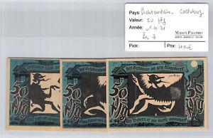 3 Tickets Lichtenstein Calluberg 50 Pfg 1.4.1921