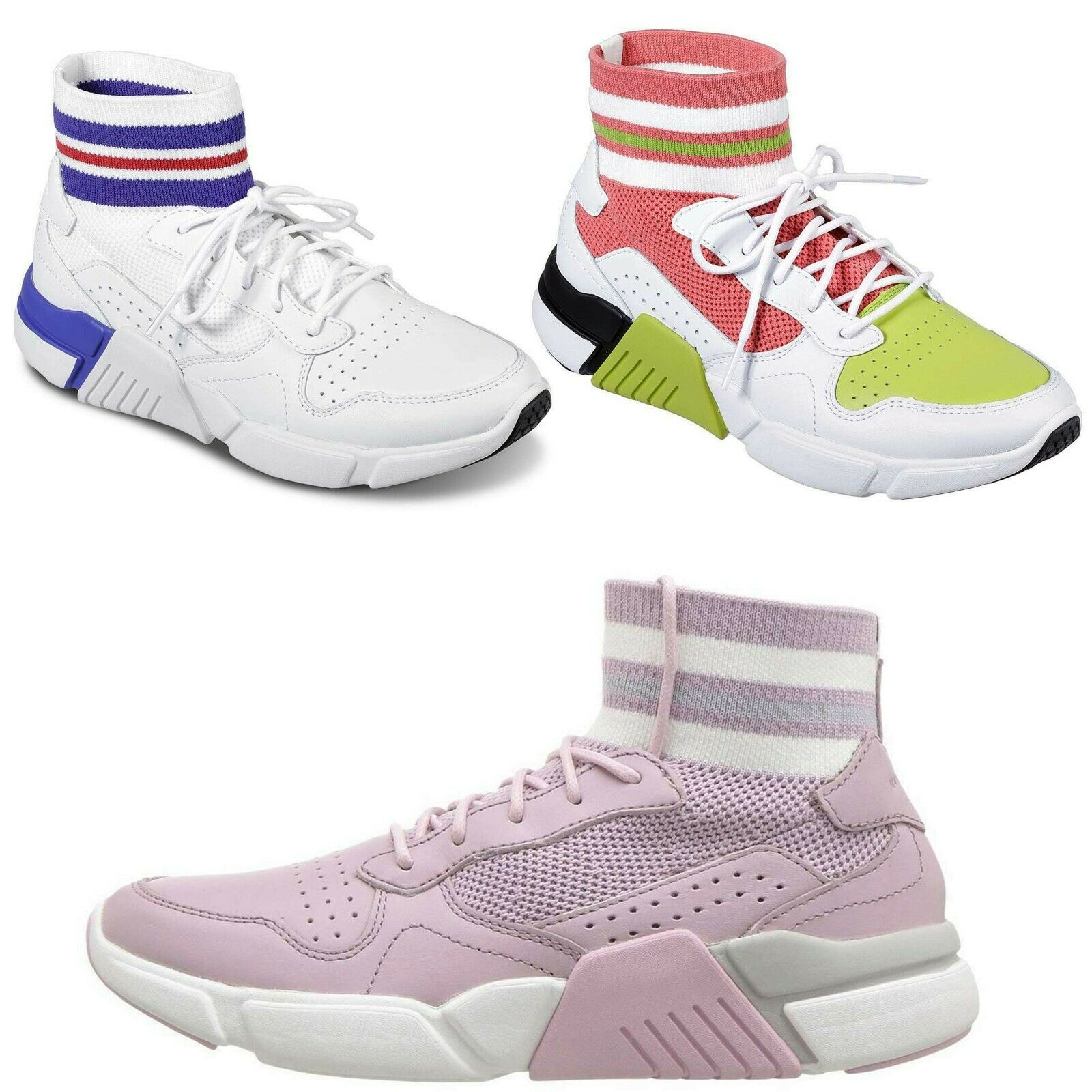 Mark Nason Women Block Varsity Memory Foam Water-Resistant Fashion Sneakers NEW