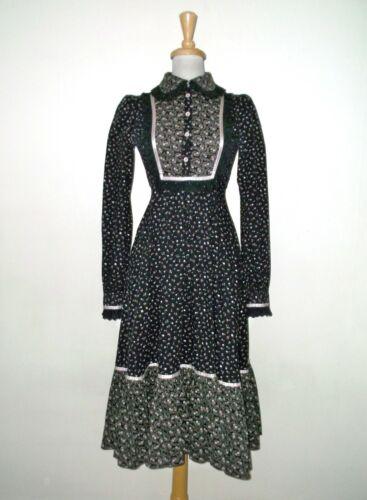 Vintage 1970's GUNNE SAX Calico Prairie Dress S-M