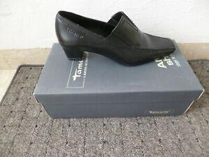 Tamaris Ballerina Slipper Shoes Pumps Black Leather
