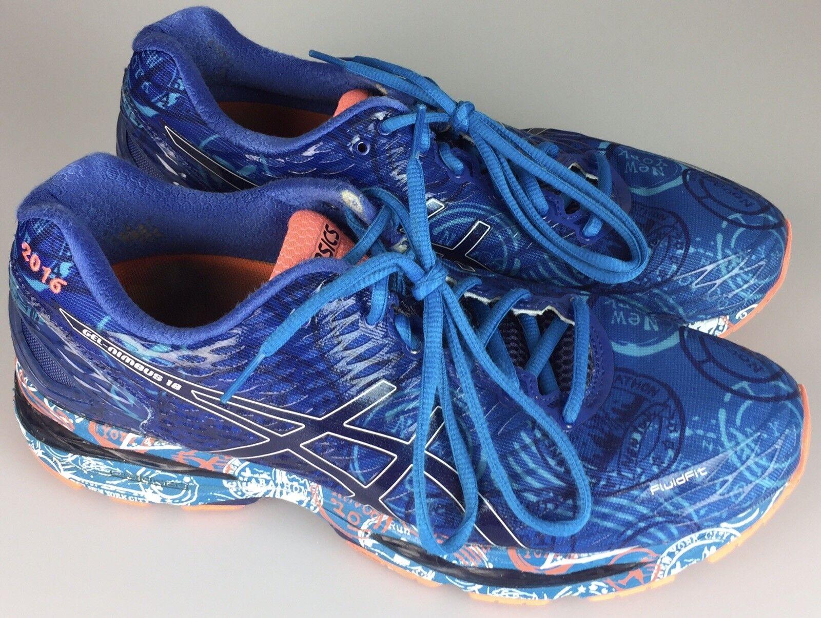 Asics GEL-Nimbus 18 NYC Mens Mens Mens 10.5 M 44.5 Marathon Running shoes T6D4N New York e5ea27