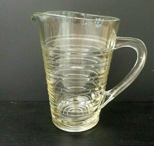 Vintage-clear-pressed-glass-water-jug-1-5-pints-825-mls-Chance-Glass
