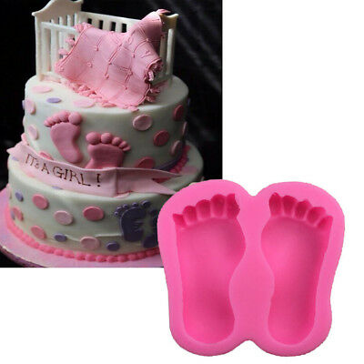 New Silicone Baby Themed Cake Mold Baking Mould Foot Toy Car Clay Gum Paste Mould Random Color