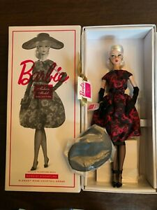 ELEGANT-ROSE-COCKTAIL-DRESS-2018-SILKSTONE-Barbie-Gold-label-FHJ77-NRFB