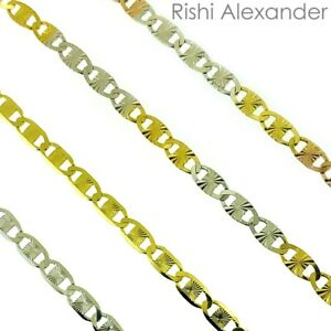 833222d0f7eea Details about Sterling Silver Rhodium, Rose Gold, Gold DC Valentino Chain  Necklace 925 Italy