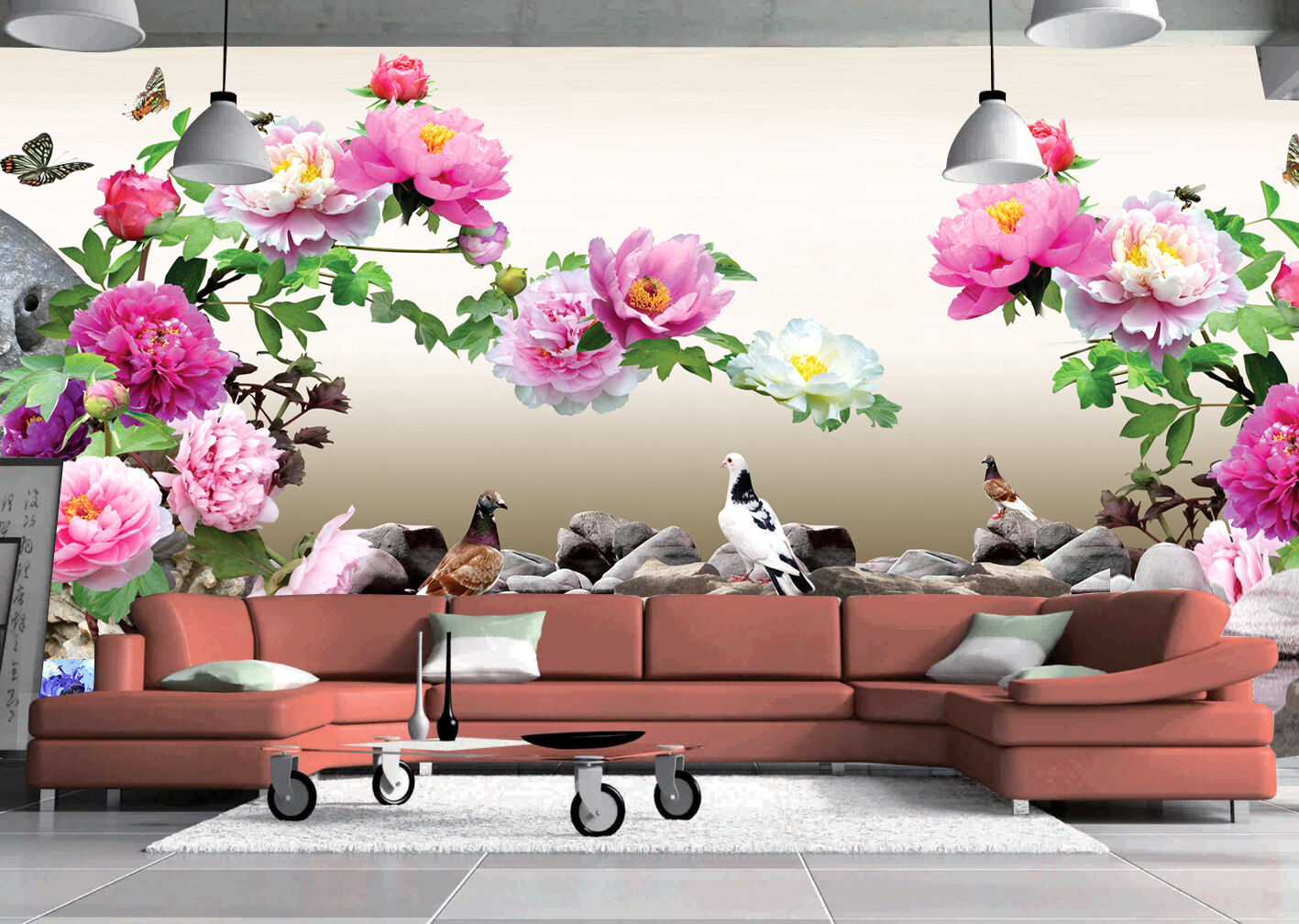 3D Branch Flowers 1F WallPaper Murals Wall Print Decal Wall Deco AJ WALLPAPER