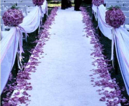 Wedding Aisle Runner - 50 ft Long - WHITE  - FREE SHIP