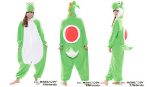Super Mario Brothers Yoshi Fleece Kigurumi Cosplay Costume Japanese