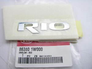New Genuine RIO Trunk Lid Emblem Badge Nameplate OEM For 2012-2016 KIA Rio
