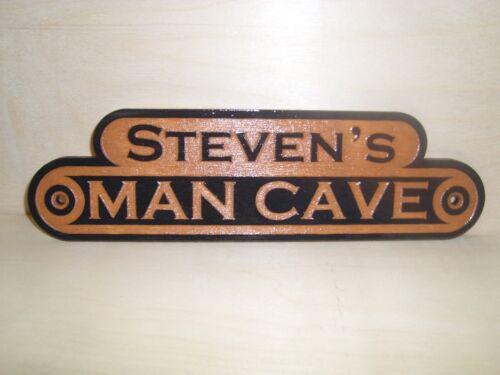 cadeau. Personnalisé Homme Cave en bois extérieur SIGNE Laser gravé