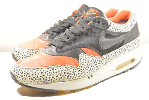 best website a05e4 a5111 Image is loading NIKE-2008-AIR-MAX-1-SAFARI-SAFETY-ORANGE-