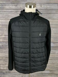 Black Mens Down Lauren Puffer Tamaño Nuevo Ralph Polo Jacket Xl Hooded tF7qWg8w