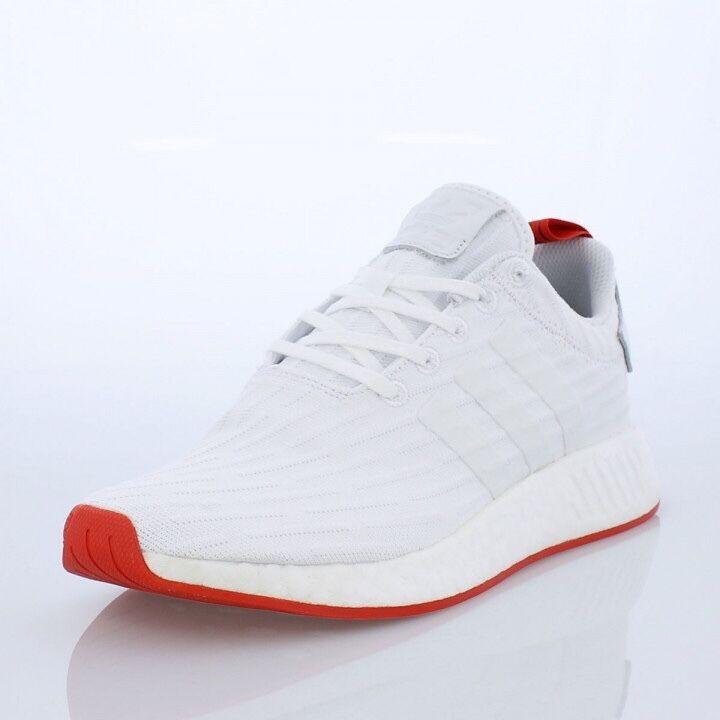 Adidas NMD blanco R2 PK centro blanco NMD rojo.Ba7253.Primeknit tamaño 7,5 229135