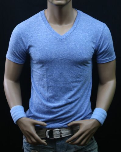 Men V-Neck T-Shirt Slim fit  Casual Muscle Fashion Casual GYM Fitness Hip Hop