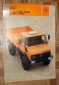 1981 Mercedes Benz Unimog U1700L U1300L Truck Brochure ...