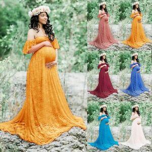 Pregnant Women Lace Maxi Long Dress Maternity Gown Photography Photo Shoot Lot Ebay