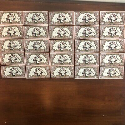 5 REPLACEMENT 1991 FRANKLIN MINT COLLECTOR/'S MONOPOLY $5 BILL DOLLAR MONEY