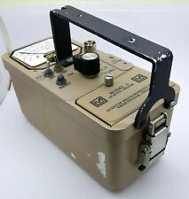Ludlum Model 3 Survey Meter With Probe Model 44 17 Geiger Counter Stalker Metro