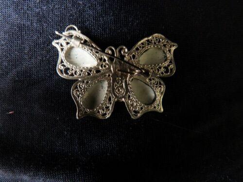 Broche Mariposa ruso Esmaltado Porcelana China Filigrana Plata финифть