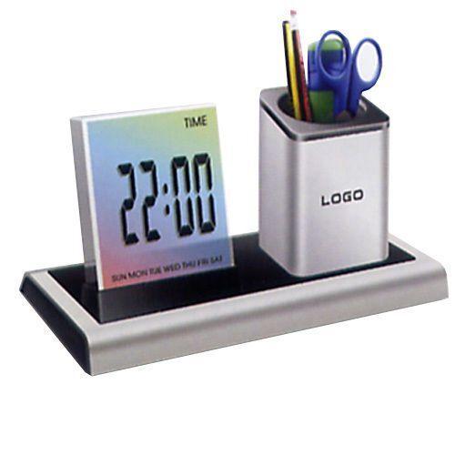 OROLOGIO LCD SVEGLIA DISPLAY DIGITALE MISURA TEMPERATURA UFFICIO IDEA REGALO