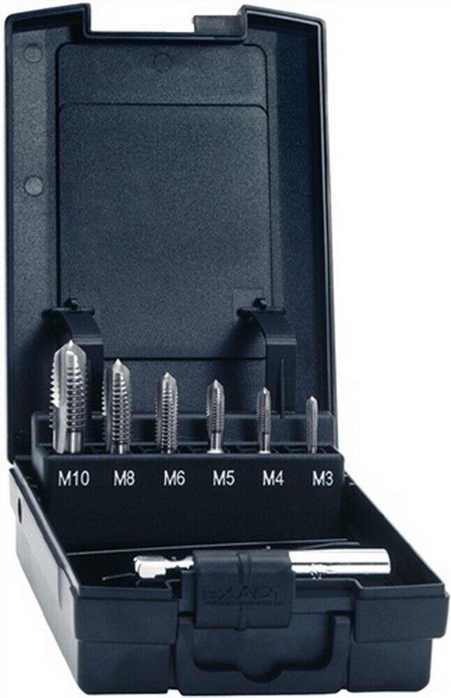 Gewindebohrerbitsatz 6tlg. HSSG M3 M4 M5 M6 M8 M10 i.Ku.-Box