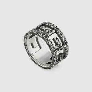 13fb90a9aeb189 RING GUCCI G CUBE 10 mm Ring YBC551918001 STERLING SILVER NEW SIZE ...