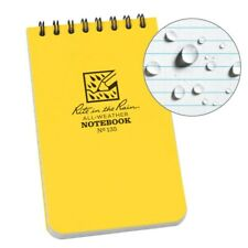 2x 135 Rite In The Rain Yellow All Weather Notebook Top Spiral 3 X 5