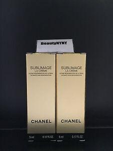2 Chanel Sublimage La Creme 5ml/0.17oz each - New Formula