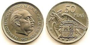 Spain-Estado-Espanol-50-Pesetas-1957-71-UNC-SC-Madrid-Escasa