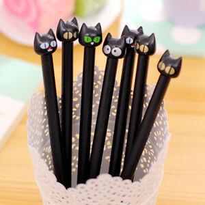5pcs-set-Black-Cat-Gel-Pen-Cute-Stationery-Creative-Gift-School-Supplies-0-5mm