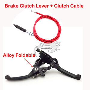 Red-Brake-Clutch-Lever-Cable-For-Dirt-Pit-Bike-CRF50-XR50-110cc-125cc-150-160-cc