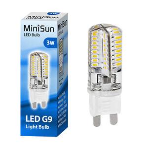 MiniSun 3W 40W Equivalent Energy Saving LED G9 Light Bulb Bulbs Warm ...