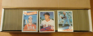 1985-Topps-Set-1-792-Mark-McGwire-Kirby-Puckett-Roger-Clemens-Rookie-Cards