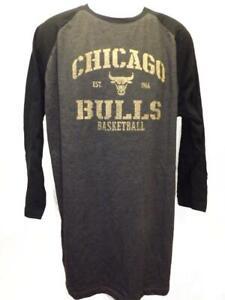 New Chicago Bulls Mens Sizes L-XL-2XL-Tall Majestic 3/4 Sleeve Shirt