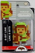 """World of Nintendo 2.5"""" Action Figure - 8-Bit Link Legend of Zelda Series 1-5"""
