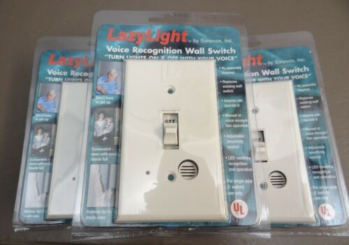 Free Shipping! Lazy Light Voice Activated Light Switch by Sonovox Set of 3