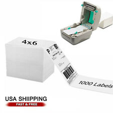 4x6 Shipping Label 1000 Fanfold Labels For Rollo Zebra Direct Thermal Printer Us