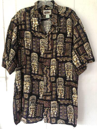 Eddy by Reyn Spooner Tiki  Hawaiian Shirt sz.XL