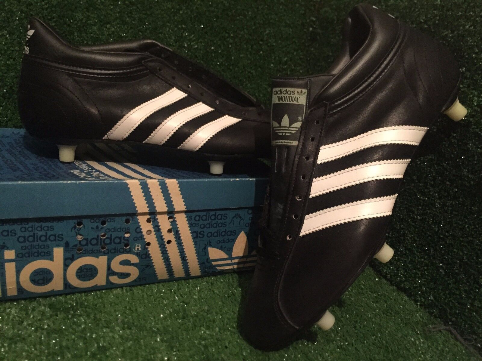 BN Adidas vintage Mondial Copa footbtutti stivali uomoia precision Soccer sautope 8,5