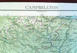 USGS Topographic Map DALTON 1981-100K Georgia Tennessee North Carolina