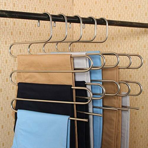 1-5 tlg.Mehrfach Hosenbügel Kleiderbügel Bügel Rockbügel Hänger Raumsparbügel S