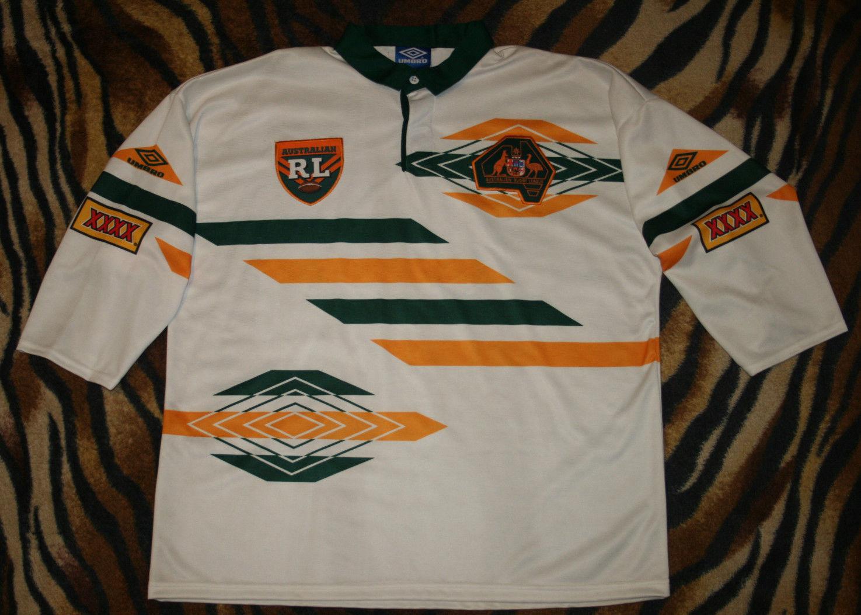 Maillot rugby australia shirt  jersey Umbro wallabies size XL