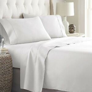 Awesome Gray Solid 4 PCs Sheet Set 12 Inch 1000 TC Egyptian Cotton King Size