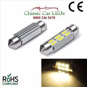 6-voltaje-Blanco-Calido-36mm-Festoon-Bombilla-Led-Coche-Clasico