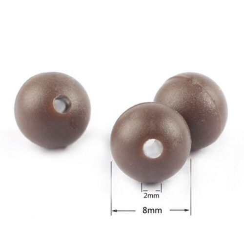 Angeln Gummiperlen Angelperlen 50 Stück Rubber Beads PE Zubehör Outdoor