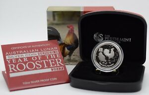 2017 1/2 oz Australian Lunar II The Year of the Rooster Silver Proof Coin