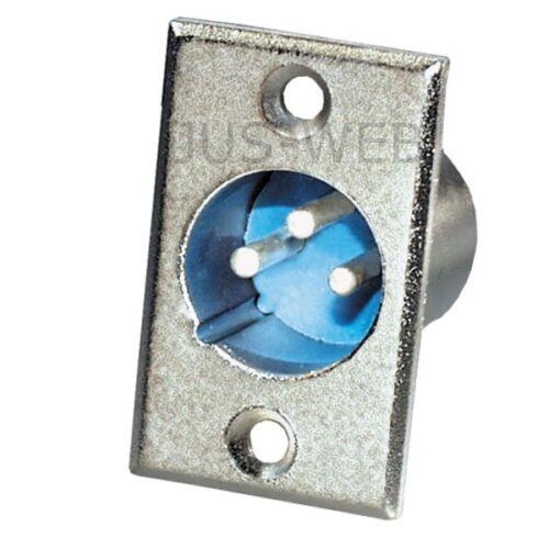 5x 3 pol Cannon XLR Einbaustecker männlich Mikrofon Stecker Flanscheinbau