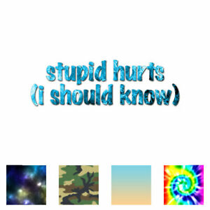 Stupid-Hurts-I-Should-Know-Decal-Sticker-Multiple-Patterns-amp-Sizes-ebn3602
